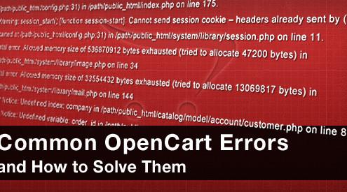 opencart errors 2